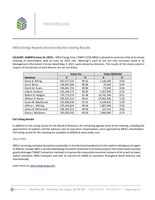 MEG Energy Reports Director Election Voting Results (CNW Group/MEG Energy Corp.)