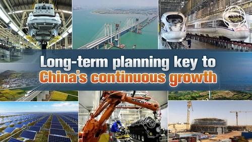 CGTN: Planejamento de longo prazo essencial para o crescimento contínuo da China (PRNewsfoto/CGTN)