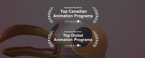 VFS has topped ACR's prestigious Canadian and International lists for the past five years and three years, respectively. (CNW Group/Vancouver Film School)