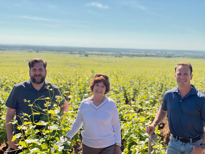 Evenstad Estates announces landmark Burgundy vineyard expansion. VP of Winemaking & Viticulture Michael Fay, Owner, Founder and Chair of the Board Grace Evenstad, and CEO & President Ryan Harris visit the Grand Cru and Premier Cru vineyard blocks in the famous Côte d'Or.