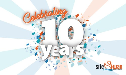SiteSwan Website Builder is celebrating its 10th Birthday in 2021