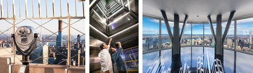 The Empire State Building Observatory Experience boasts a recent $165 million overhaul that added a dedicated entrance on 34th Street, one dozen immersive, museum-quality exhibits and industry-leading Indoor Environmental Quality improvements.