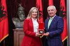Albanian President Honors AJC Jerusalem Director Avital Leibovich...