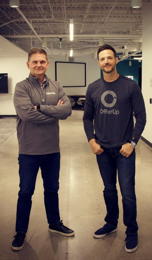 Incoming OfferUp CEO Todd Dunlap and OfferUp Co-Founder and Chief Product Officer Nick Huzar