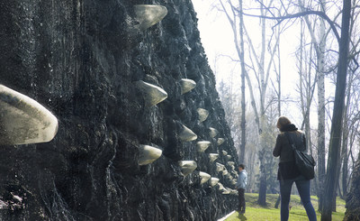 """The """"Crystal Wall of Crying,"""" by conceptual and performance artist, Marina Abramović will be one of the biggest art installations constructed in Europe during the last decade"""