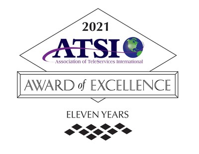 ATSI Diamond Plus Award of Excellence 11 years
