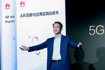 Huawei Carrier BG CMO Bob Cai during the speech