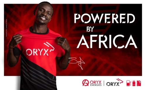 Oryx Energies and Sadio Mané: A shared history with Africa « POWERED BY AFRICA » (PRNewsfoto/Oryx Energies)