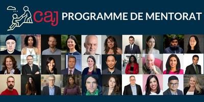 L'Association canadienne des journalistes (CAJ) est heureuse de lancer le volet été 2021 de son populaire programme de mentorat (Groupe CNW/Canadian Association of Journalists)