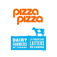 Pizza Pizza and Dairy Farmers of Canada logos (CNW Group/Dairy Farmers of Canada)