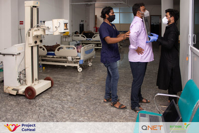 100-bed free hospital with ICU facilities, started by B'lore tech firm Globals with support from QNET, Presidency University, and Rotary Manyata