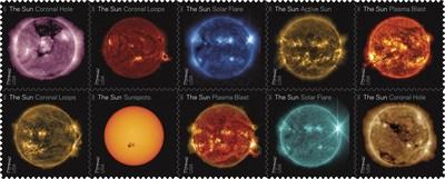 Usługa pocztowa sprawia, że słońce świeci na zawsze ze znaczkami