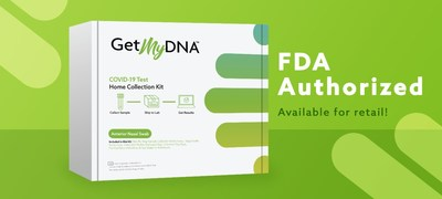 GetMyDNA COVID-19 Test Home Collection Kit receives FDA EUA for retail purchase