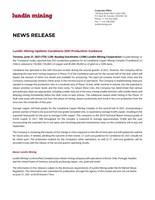 Lundin Mining Updates Candelaria 2021 Production Guidance (CNW Group/Lundin Mining Corporation)