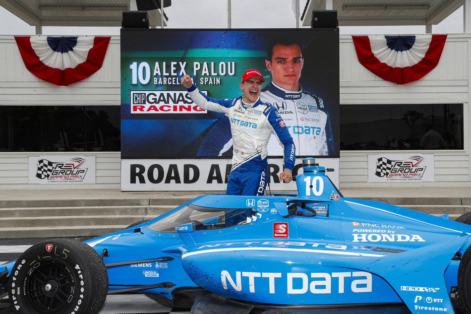 Honda's Alex Palou captured his second NTT INDYCAR SERIES victory of 2021 Sunday before a near-capacity crowd at Road America in Elkhart Lake, Wis.