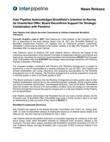 Inter Pipeline Acknowledges Brookfield's Intention to Revise its Unsolicited Offer; Board Reconfirms Support for Strategic Combination with Pembina (CNW Group/Inter Pipeline Ltd.)