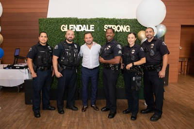 Phonexa President and CEO David Gasparyan honors the Glendale Police Department at an awards luncheon on June 17 after the reopening of California amidst the COVID-19 pandemic. (Photo by @HaykAtomtsPhotography)