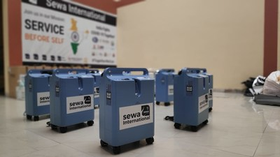Oxygen Concentrators Sent by Sewa International USA for Distributing to Hospitals Treating COVID-19 Patients in India