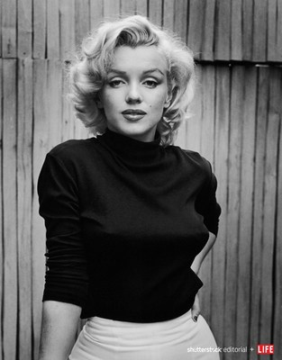 Portrait of actress Marilyn Monroe on the patio of her home in 1953. Photo credit: Alfred Eisenstaedt/The LIFE Picture Collection/Shutterstock.