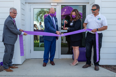 A community grand opening celebration was held on June 17, 2021 to officially introduce the VITAS Suites. Panama City Mayor Greg Budnicki (right) joined VITAS leaders for the ceremonial ribbon cutting.