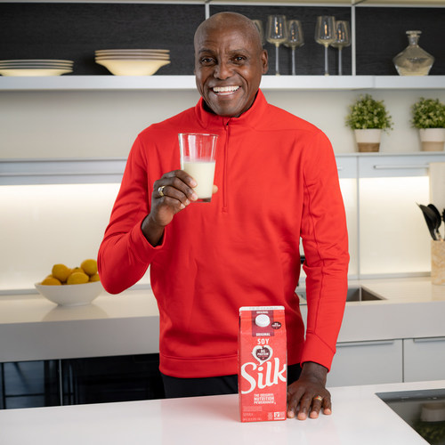 As the newest member of Silk Team Protein, Carl Lewis is working with Silk Soymilk to support HBCU Track and Field teams with a total donation of $50,000