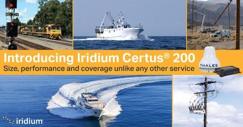 Introducing the Iridium Certus 200 service.