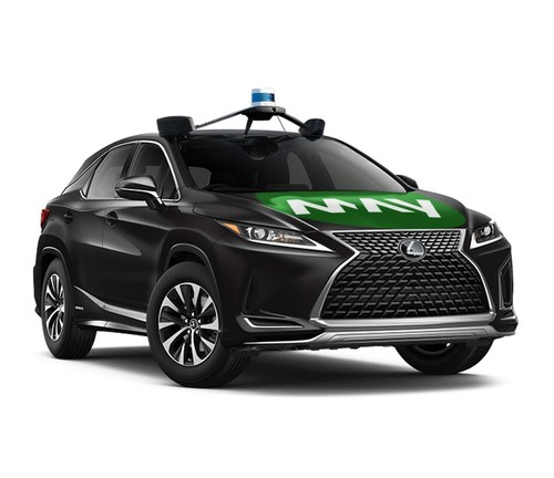 The Together in Motion AV shuttle service is available to the public and features five Lexus RX 450h vehicles and one wheelchair-accessible Polaris GEM shuttle equipped with May Mobility's autonomous technology.