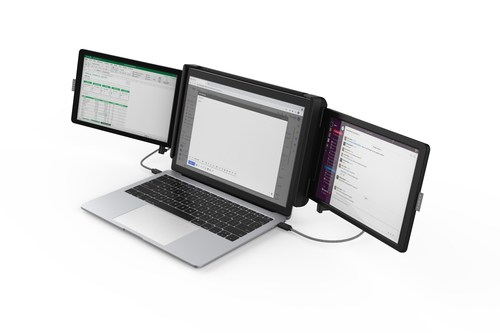 Xebec Tri Screen 2 Adds Two Additional Screens to Laptops for a Lightweight, Portable Multi-Screen Setup