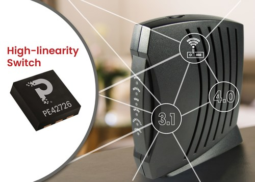 pSemi's new high-linearity RF switch delivers the best-in-class harmonics and spurious performance for cable industry standard DOCSIS 3.1 and beyond.
