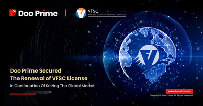 Doo Prime is pleased to announce that Doo Prime Vanuatu Limited success in the renewal of the financial dealer's license from the Vanuatu Financial Services Commission (VFSC). (PRNewsfoto/Doo Prime)