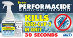 PERFORMACIDE® Kills Virus Causing COVID-19 In Just 30 Seconds...