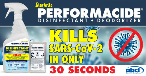 PERFORMACIDE® Kills Virus Causing COVID-19 In Just 30 Seconds