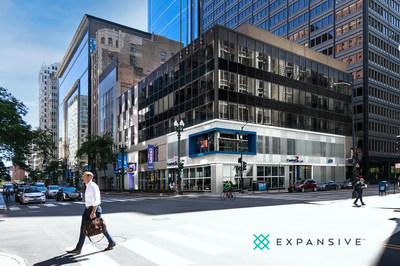 Flexible workspace leader Expansive™ updates and reopens 100 South State Street in Chicago's Loop.