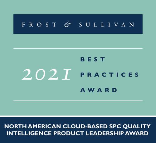 2021 North American Cloud-based SPC Quality Intelligence Product Leadership Award (PRNewsfoto/Frost & Sullivan)