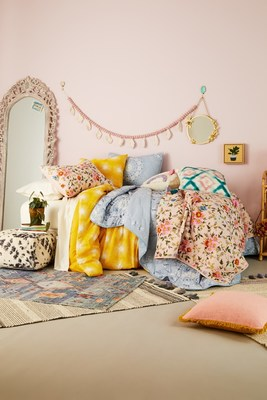 Bed Bath & Beyond launches Wild Sage, a new line of stylish, eclectic, free-spirited bedding, decor, furniture, bath products and table linens created for young adults (and the young at heart) who want to express their unique personality in their space.