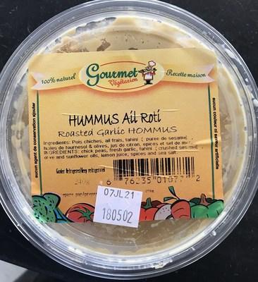 Hummus ail roti (Groupe CNW/Ministère de l'Agriculture, des Pêcheries et de l'Alimentation)