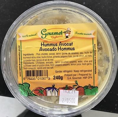 Hummus Avocat (Groupe CNW/Ministère de l'Agriculture, des Pêcheries et de l'Alimentation)
