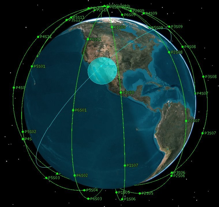 A rendering of the Iridium payload to be hosted by another LEO constellation on behalf of the U.S. Army.