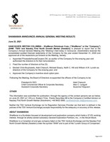 ShaMaran Announces Annual General Meeting Results (CNW Group/ShaMaran Petroleum Corp.)