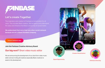 """Black Founded Social Media Platform Launches New """"The Future of Fanbase"""" Creator Advisory Board Enlisting Help From Creator Community on Feature Design"""