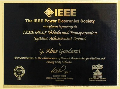 2021 IEEE PELS Award