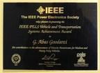 Dr. Abas Goodarzi, Ideanomics Chief Scientist, Receives IEEE PELS ...