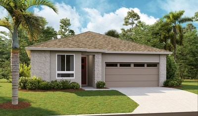 The Emerald plan is one of eight Richmond American floor plans available at Seasons at Forest Lake in Davenport, Florida.
