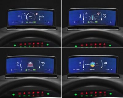Weltneuheit: Hyundai Mobis stellt Integration von HUD und Kombi-Instrument vor