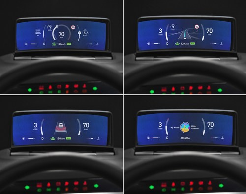 The world's first Clusterless HUD by Hyundai Mobis