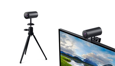 Transition effortlessly between a monitor and a tripod with the Dell UltraSharp Webcam