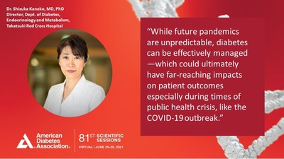 Dr. Shizuka Kaneko, MD, PhD presented findings at the virtual 81st Scientific Sessions of the American Diabetes Association.