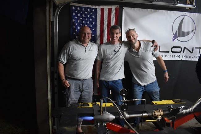 Veteran-owned start up Velontra will be the next Space X of hypersonic unmanned flight. Left to right are U.S. Marine Corp veteran and Velontra CEO Zachary Green, U.S. Marine Force Recon veteran and COO Rob Keane, and Velontra's Chief Technology Officer Joel Darin, one of the nation's authorities on jet engine afterburners.