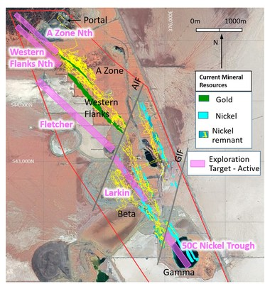Figure 6: Beta Hunt plan view showing active exploration drill targets (CNW Group/Karora Resources Inc.)