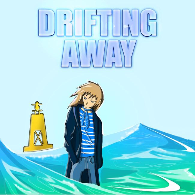 """Drifting Away"" single cover art."